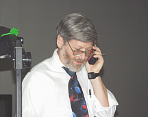 Dr. Paul Shuch on his cell phone