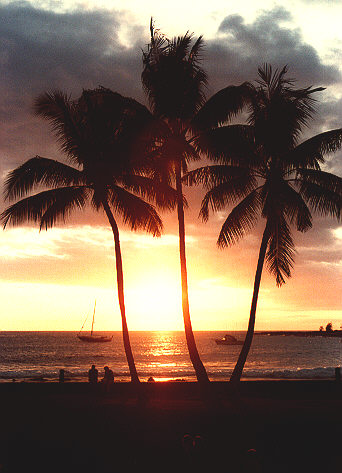 Photo taken on the Kona beach, Big island of Hawaii, 1983 (46702 bytes)