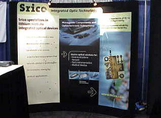 SRICO's booth at OFC